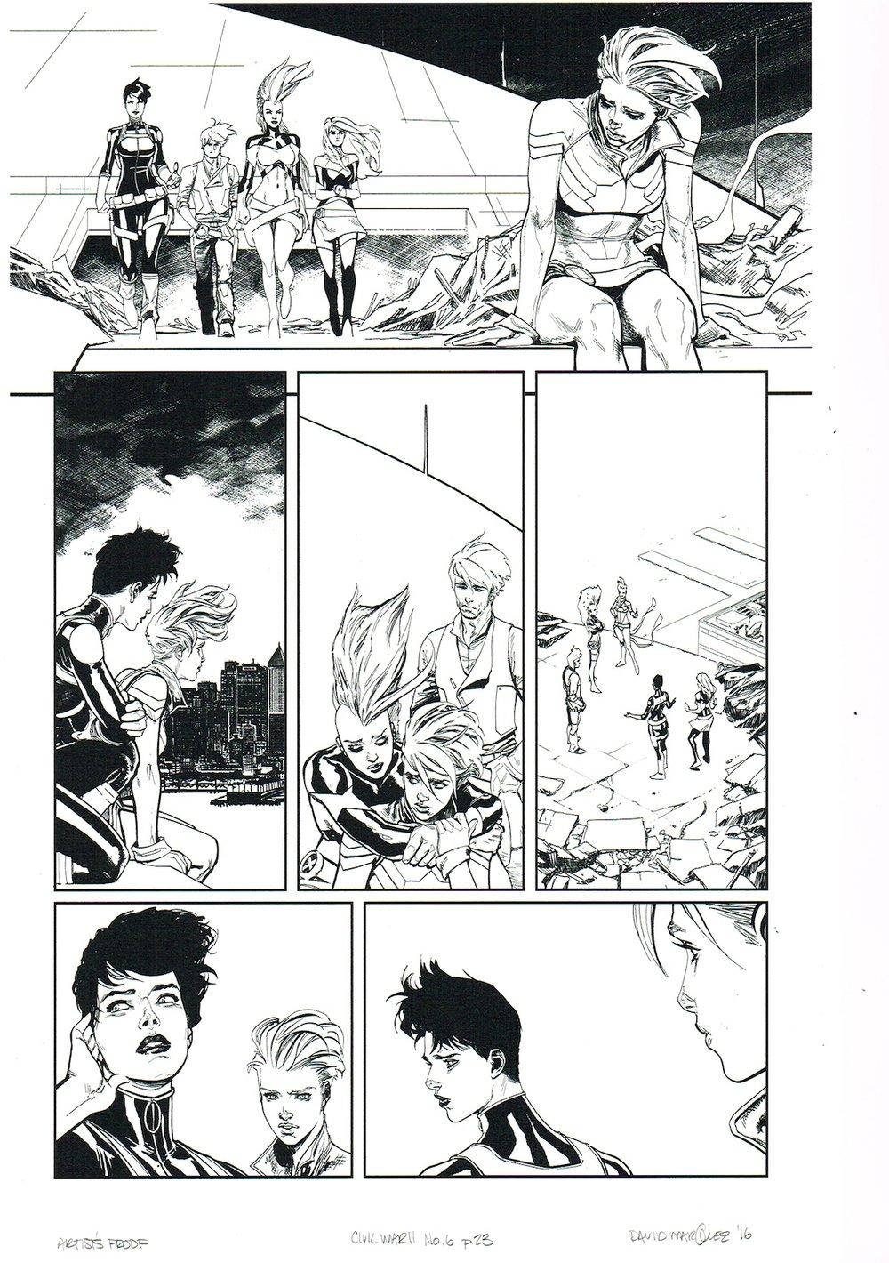 Image of CIVIL WAR II #6, p.23 ARTIST'S PROOF