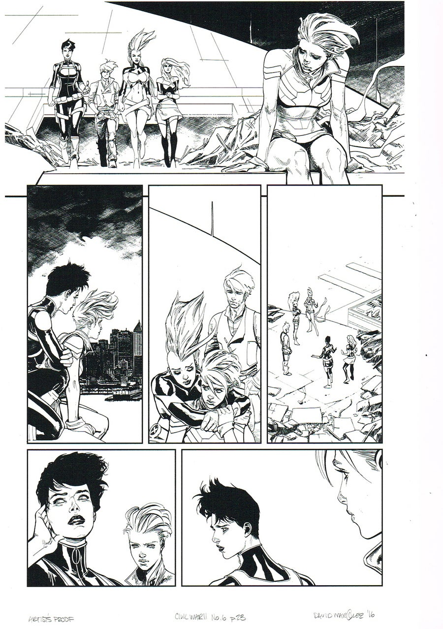 Image of CIVIL WAR II #6, p.23 ARTIST'S PROOF