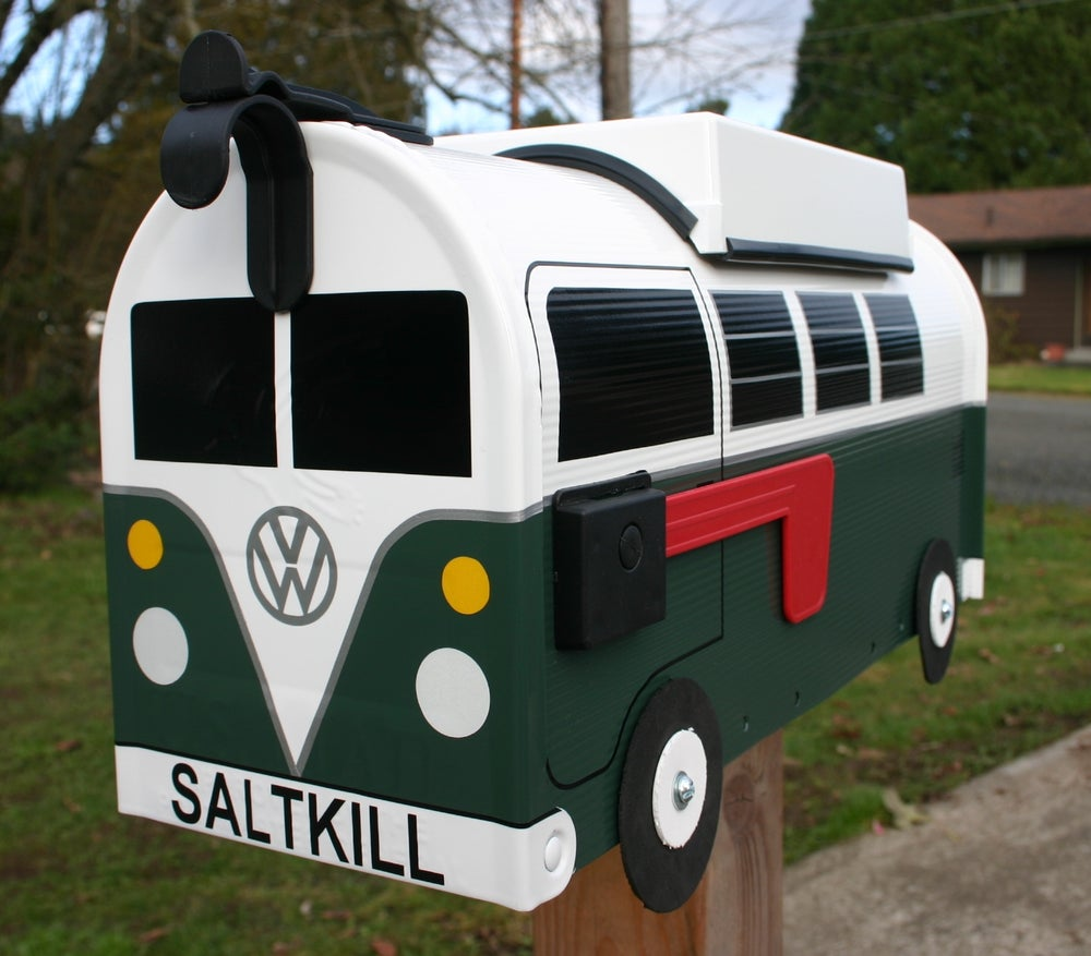 Image of Hunter Green Split Window Volkswagen Camper by TheBusBox - Choose your color VW Splitty