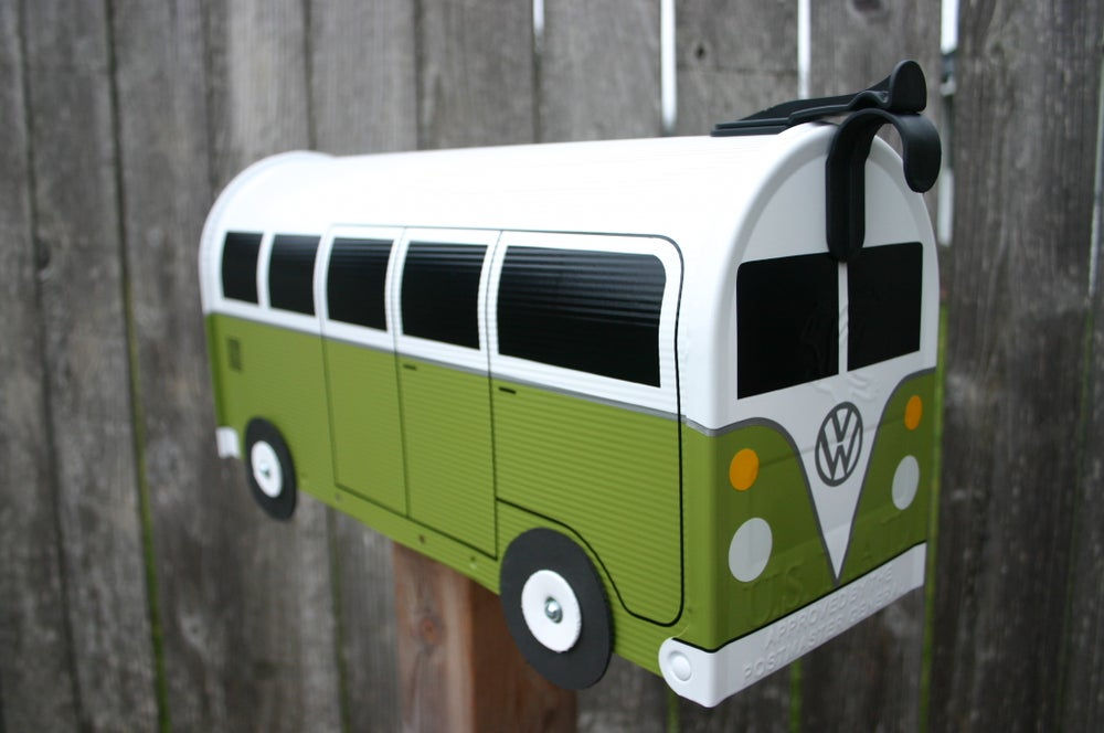 Image of Eden Green Split Window Volkswagen Bus Mailbox by TheBusBox - Choose your color VW