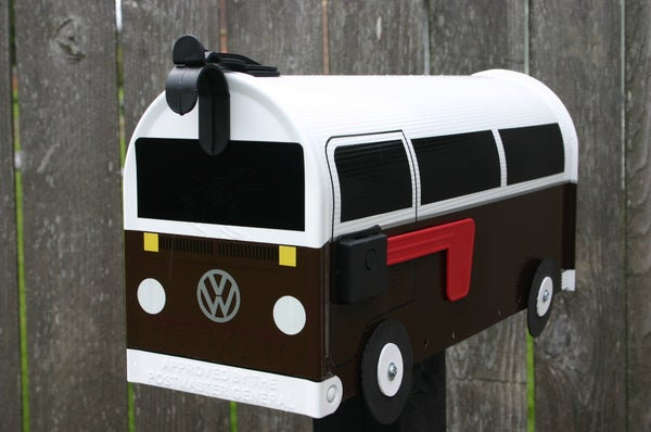 Image of Brown Two Tone Bay Window Bus Mailbox by TheBusBox - Choose your color VW