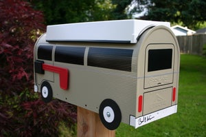 Image of Tan Bay Window Volkswagen Camper Bus Mailbox by TheBusBox - Choose your color VW Westy