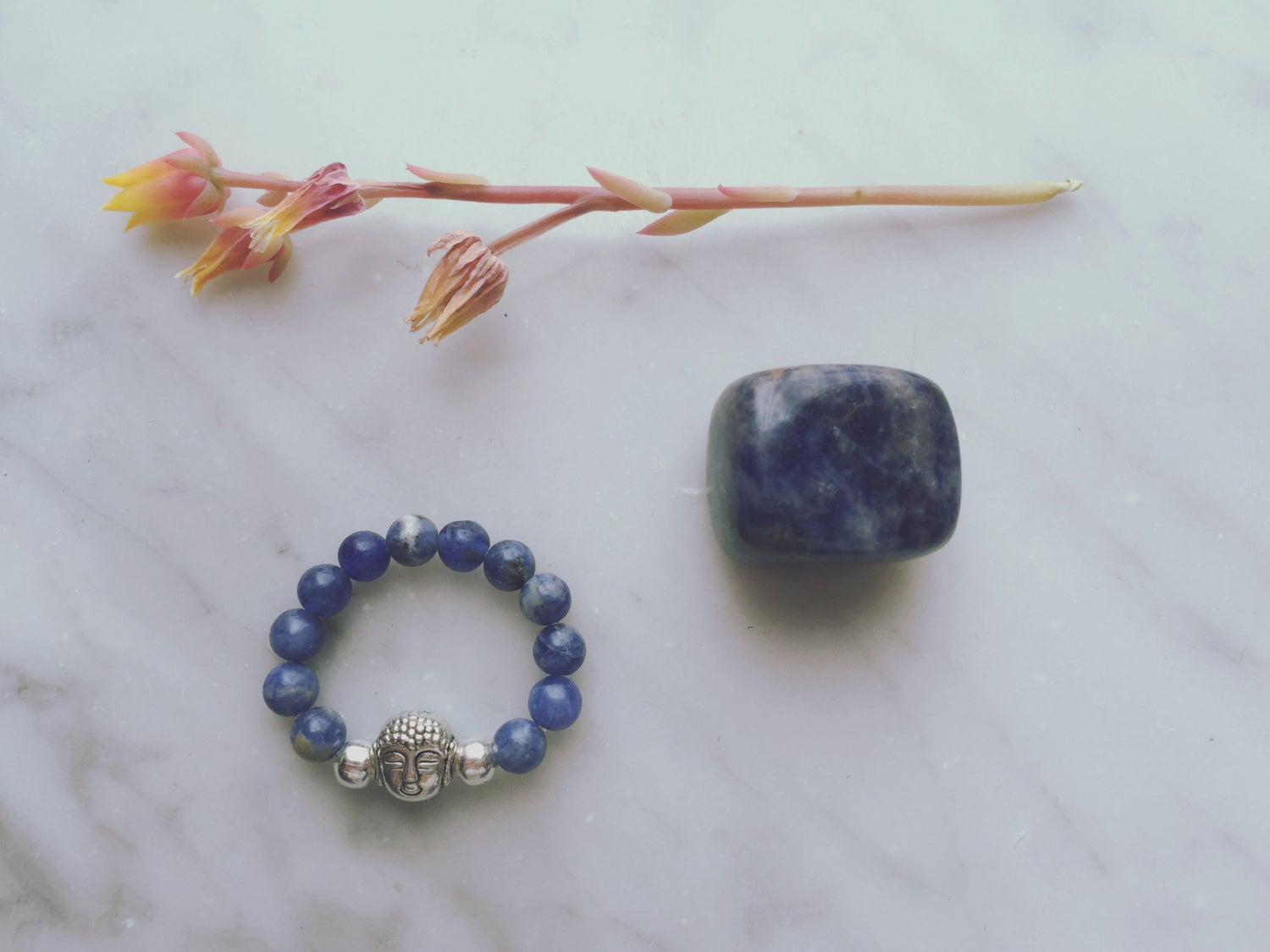 Buddha Stretch Ring in Sodalite