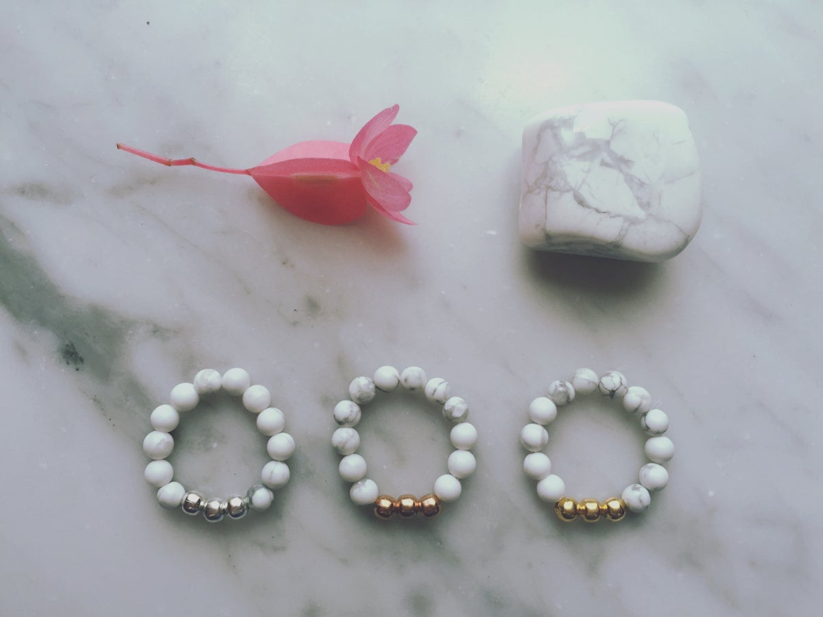 Image of Trio Stretch Ring in Howlite