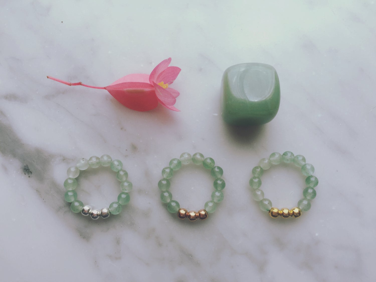 Trio Stretch Ring in Aventurine