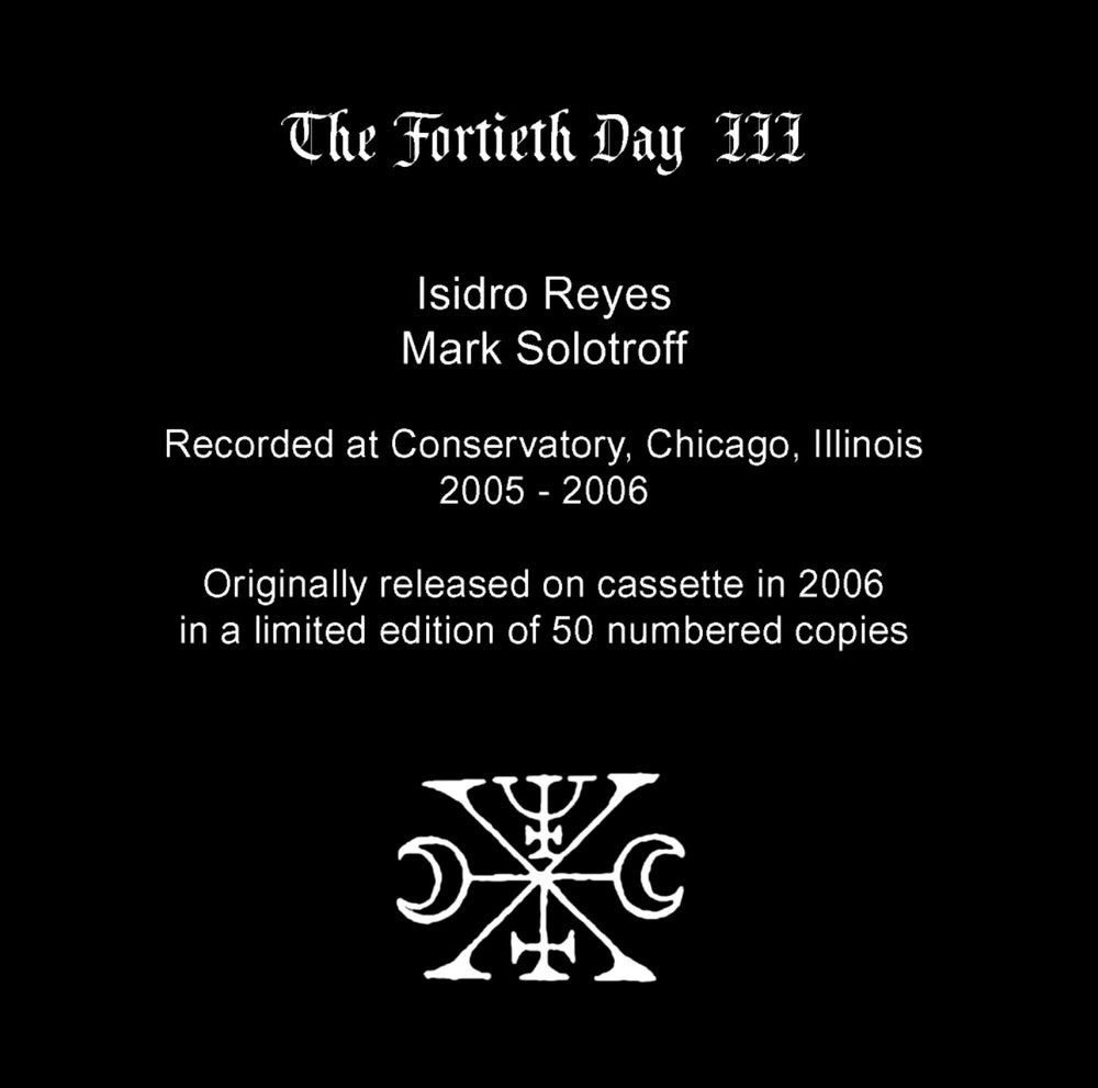 """B!107 The Fortieth Day """"III"""" CD"""