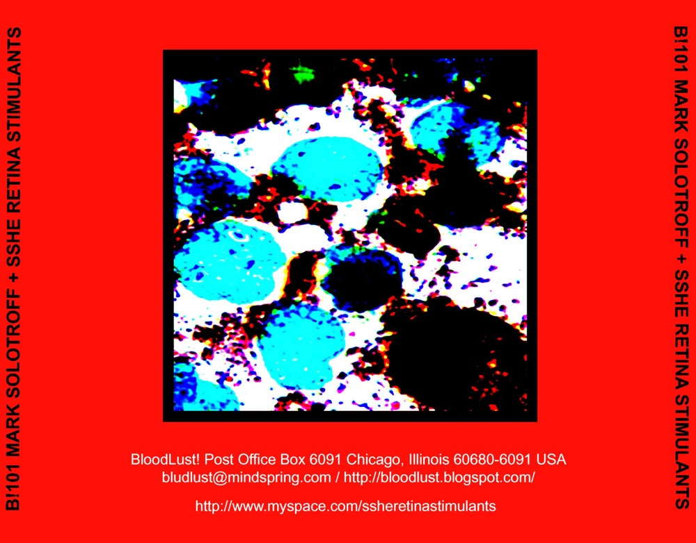 B!101 Mark Solotroff + Sshe Retina Stimulants Part One CD