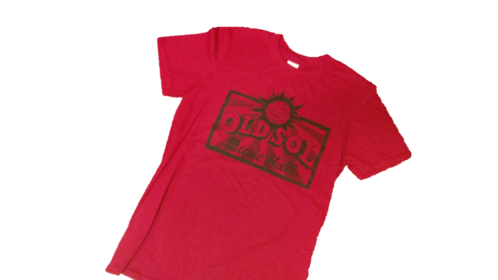 Image of Old Sol Music Hall -- Adult T-Shirt (Red)