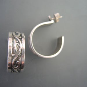 Image of White Vine Hoops