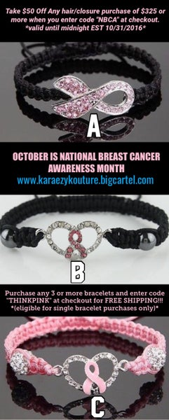 Image of BREAST CANCER AWARENESS BRACELET