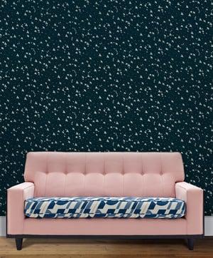 Image of Star-ling Wallpaper - Midnight & Silver