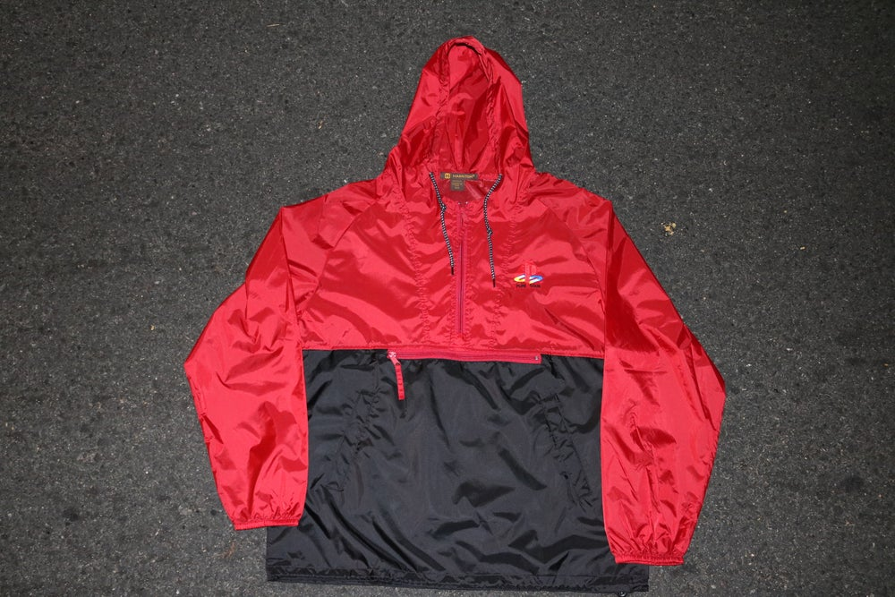 Image of PS TWO TONE WINDBREAKER  RED/BLACK