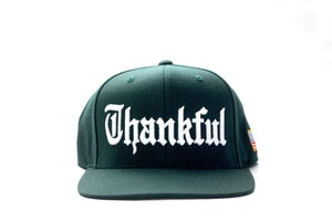 Image of OLD ENGLISH THANKFUL SNAPBACK (FOREST GREENE)