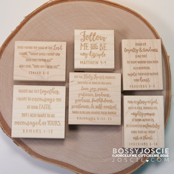 Image of Bible Verses: 6 stamp bundle