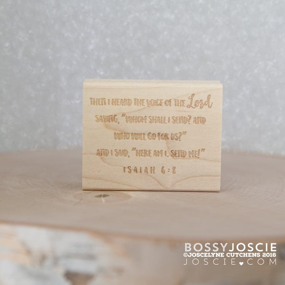 Image of Bible Verse: Isaiah 6:8