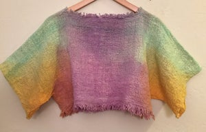 Image of Aura woven crop