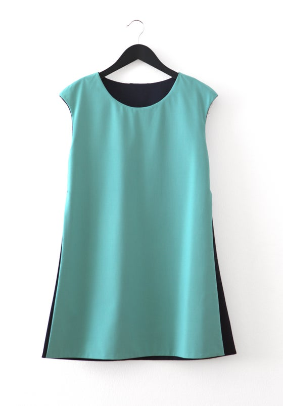 Image of Midnight-Aqua blue TUNIC