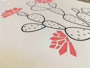 Image of PRICKLY PEAR letterpress