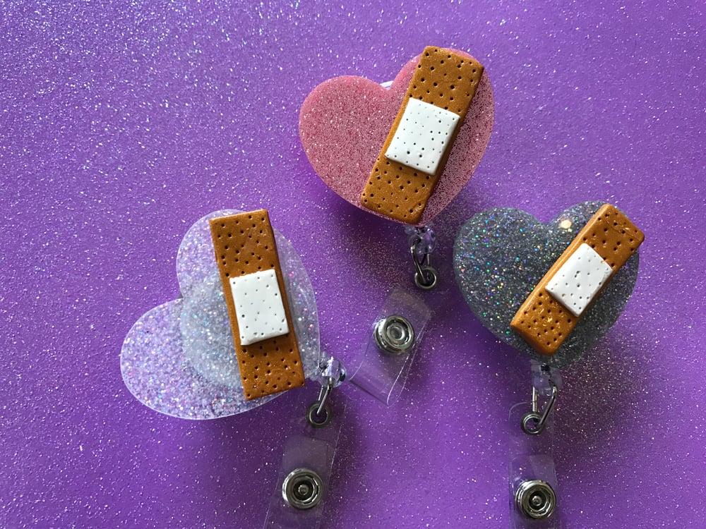 Image of Heart Bandaid Badge Reel