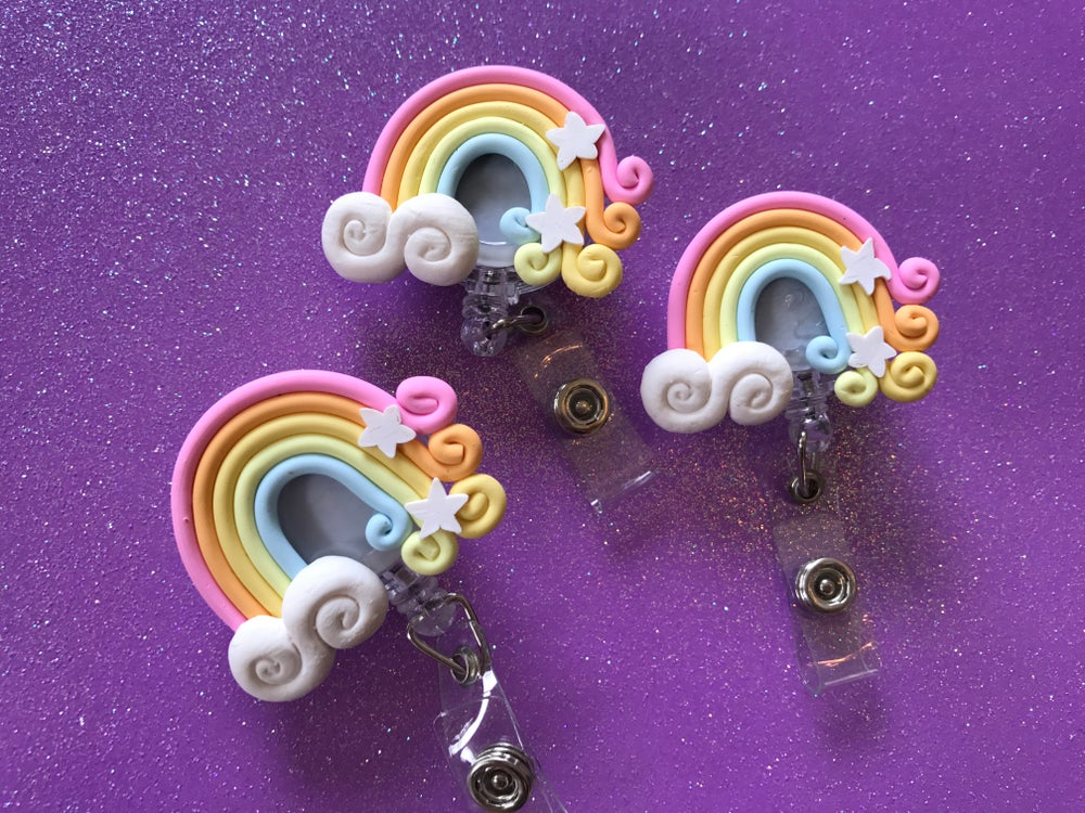 Image of Rainbow Cloud ID Badge Reel