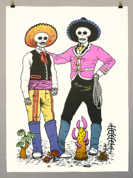 Image of Vaqueros - Day of The Dead print