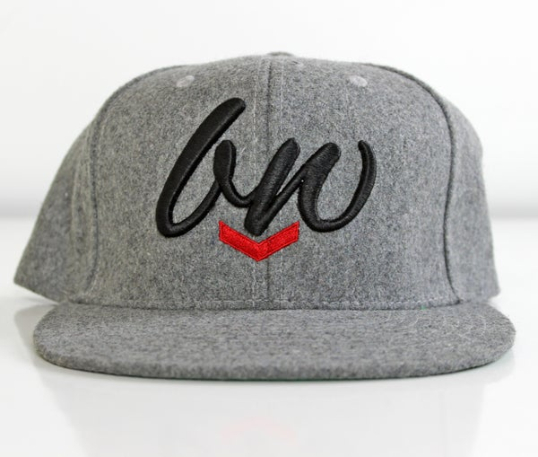 Image of INITIALS SNAPBACK HAT - GREY