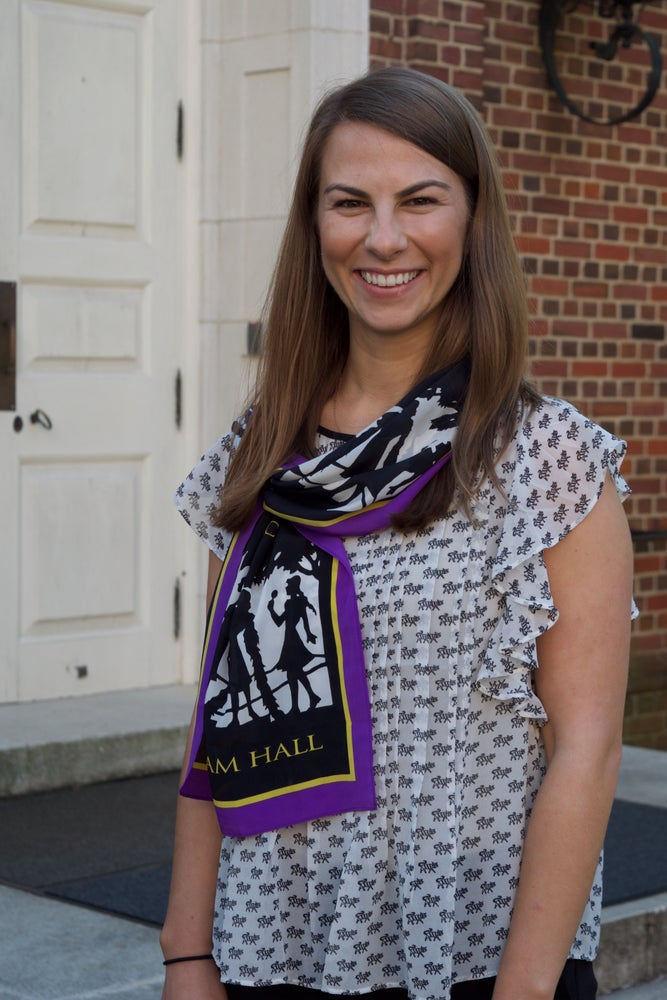 Image of Alumnae Council Crepe de Chine Silk Scarf