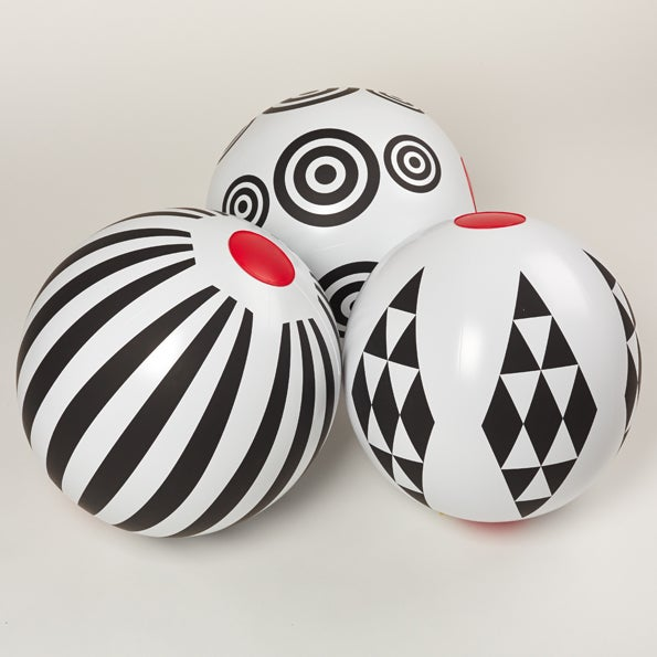 Image of Black & White Beach Ball - circles