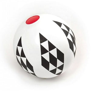 Image of Black & White Beach Ball - diamonds