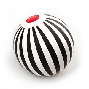 Image of Black & White Beach Ball - stripes