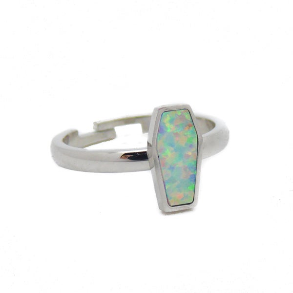 Image of Opal Coffin Ring/Midi Ring