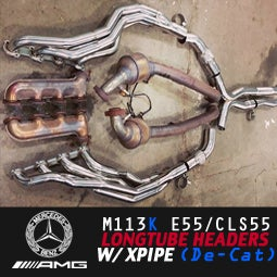 Image of PB5 - M113k AMG De-Cat Longtube Headers W/ X-Pipe