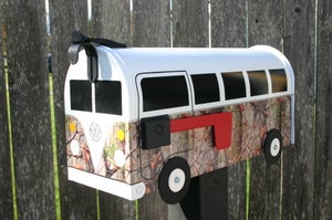 Image of Camouflage Volkswagen Bus Mailbox by TheBusBox - Camo Hunt Hunting Splitty VW