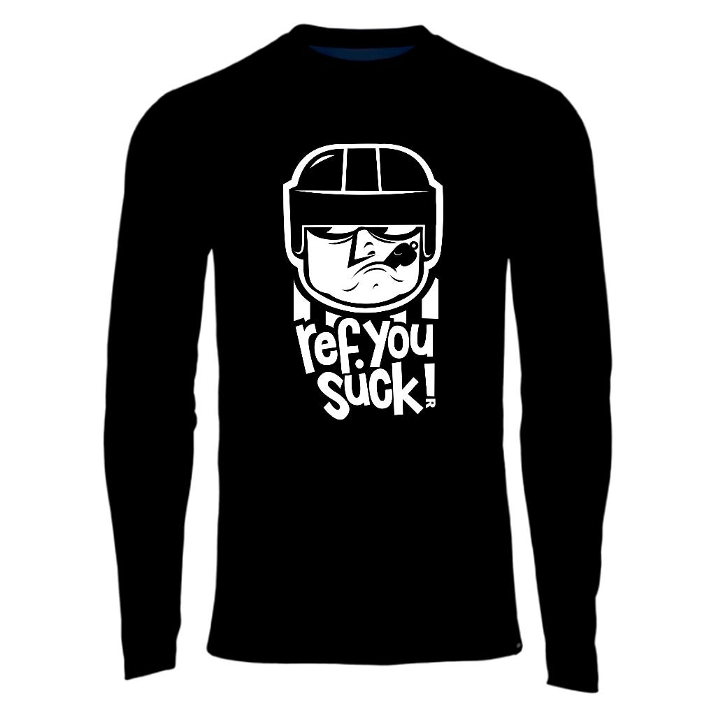 Image of Ref You Suck - hockey referee t-shirt (black, red, or orange)