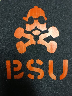 Image of BSU Black, Hazard, Red, White, Yellow, Pink, Blue, Fl Green Laser Cut Griptape
