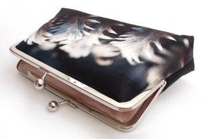 Image of Silver leaves clutch bag
