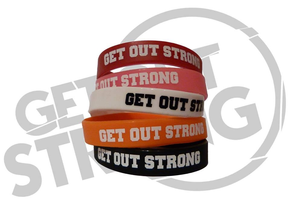 Image of Get Out Strong Rubber Wristband