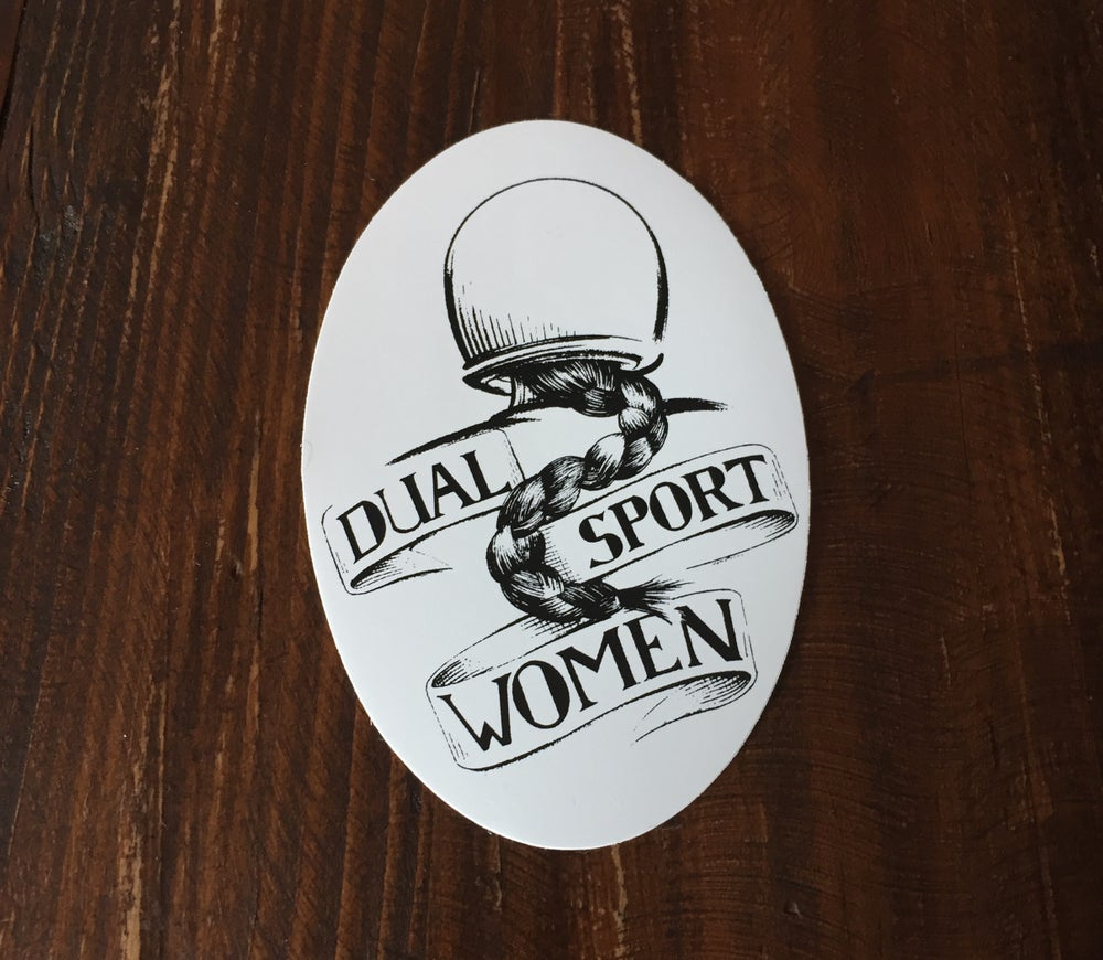 Image of  Vintage Dualsport Women Sticker w/ free shipping