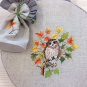 Image of 'Falling Leaves' Embroidery Hoop Bag