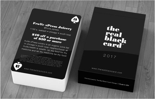 Image of 2017 REAL BLACK CARD DECK