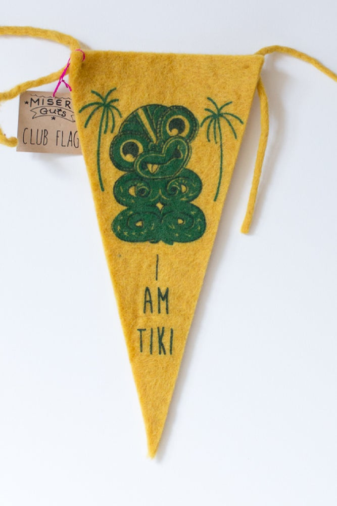 Image of I am Tiki CLUB FLAG