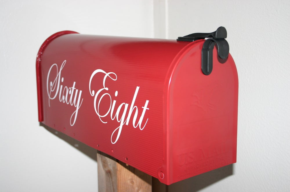 Image of Colonial Red Painted Mailbox by TheBusBox - Choose Your Color
