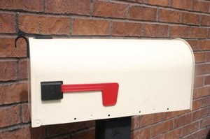 Image of Navajo White Painted Mailbox by TheBusBox - Choose your color Custom Wedding Valentine Anniversary