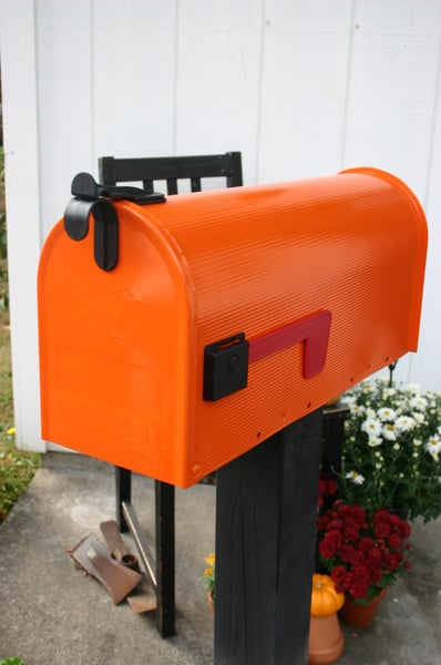 Image of Real Orange Painted Mailbox by TheBusBox - Choose Your Color Housewarming Gift Christmas Halloween