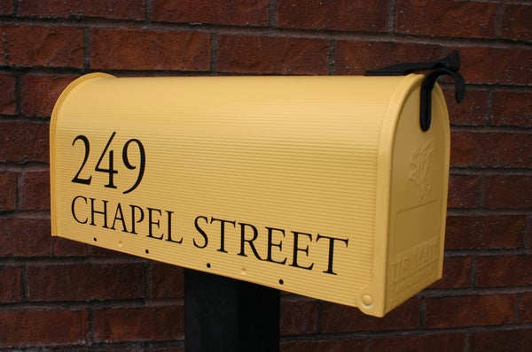 Image of Summer Squash Painted Mailbox by TheBusBox - Choose your color House Home Housewarming Gift