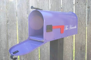 Image of Grape painted Mailbox by TheBusBox - Choose your color Birthday Gift Housewarming Wedding