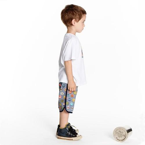 Image of Boys Retro Travel Shorts -  Vintage Soda Pop > Charcoal Blue