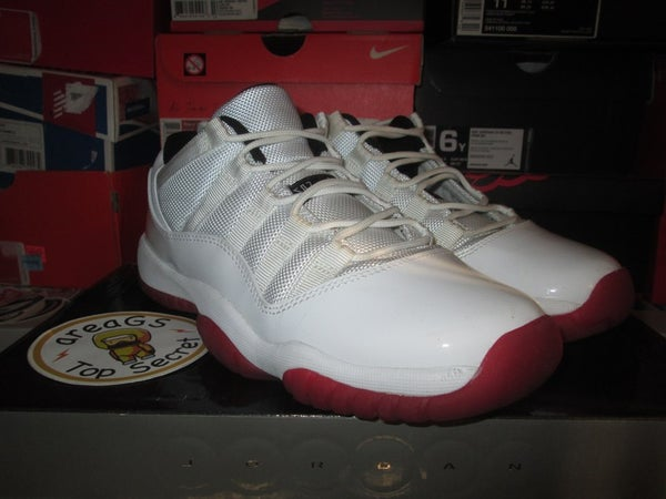 "Air Jordan XI (11) Retro Low ""White/Red"" GS *PRE-OWNED* - areaGS - KIDS SIZE ONLY"