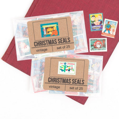 Image of Vintage Christmas Seals - Set of 25