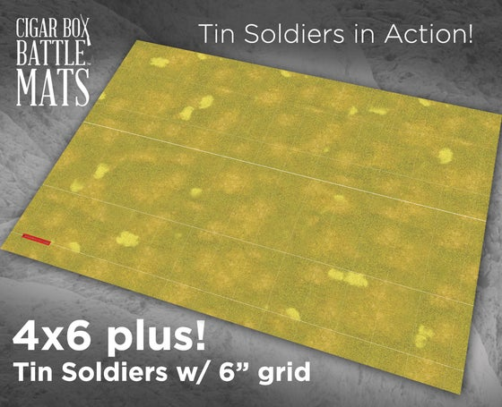 Image of Tin Soldiers in Action Grassland Terrain Mat - 6x4 - #430